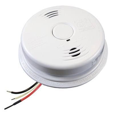 Kidde Fire Systems i12010SCO Worry-Free AC Hardwired Combination Smoke & Carbon Monoxide Alarm Sealed Lithium Battery Backup