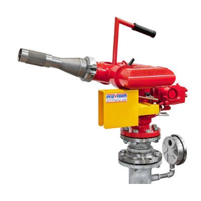 InnoVfoam FWM-6D water turbine operated fire monitor