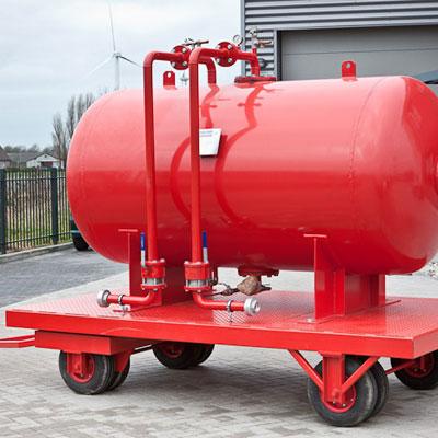 InnoVfoam IHBT-1250 horizontal bladdertank for foam concentrate storage