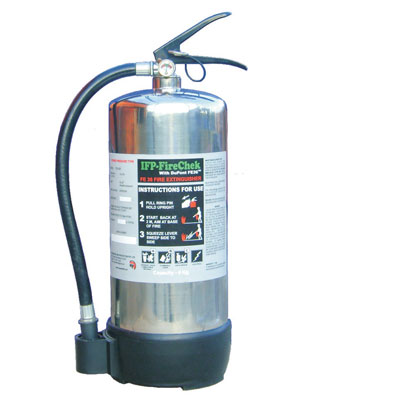 Integrated Fire Protection IFP FIRECHEK clean agent fire extinguisher
