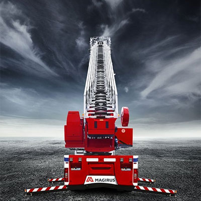 IVECO Magirus M32L hydraulic turnatable ladder