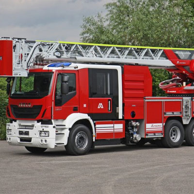 IVECO Magirus M34L-H heavy-duty turntable ladder
