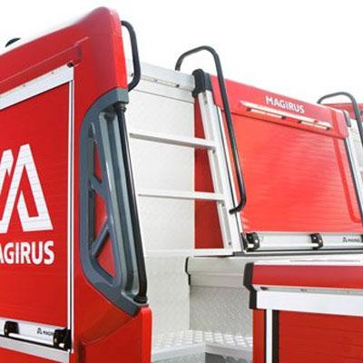 IVECO Magirus M60L hydraulic turntable ladder