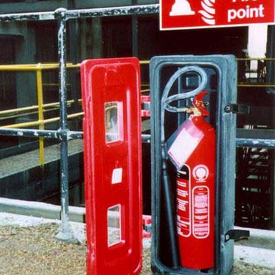 Jonesco JBXE83 front loader extinguisher box
