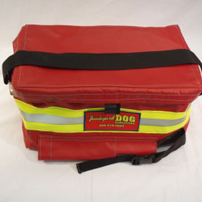 Back Step Bag carries supplies typical for hose evolutions