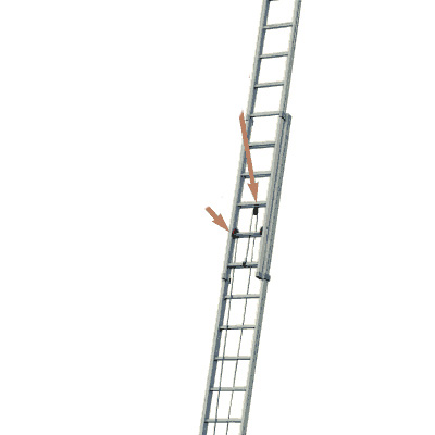 JUST Leitern AG R-616 aluminium extention ladder
