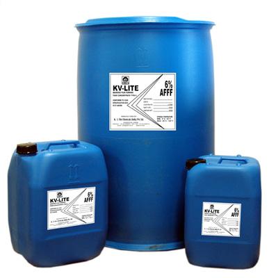 K. V. Fire Chemicals KV-LITE AFFF foam concentrate