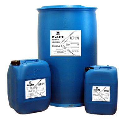 K. V. Fire Chemicals KV-LITE HEF foam concentrate