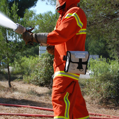 Kermel V70 are bunker gear used by wildland firefighters in Spain, France or Italy