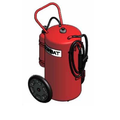 Lingjack Engineering C-150ATC ABC powder cartridge trolley fire extinguisher