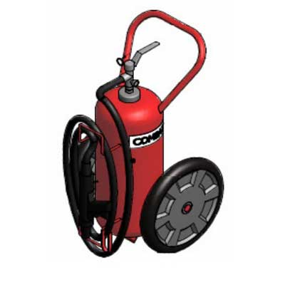 Lingjack Engineering C-25ATP ABC powder stored pressure trolley fire extinguisher