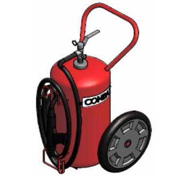 Lingjack Engineering C-30HTP Halotron stored pressure trolley fire extinguisher