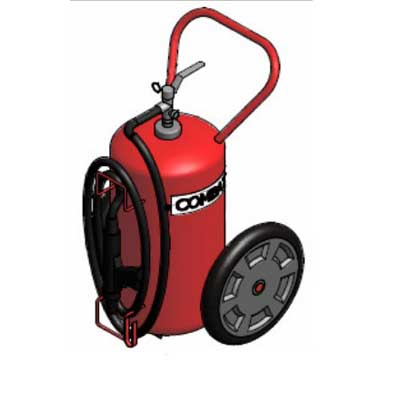 Lingjack Engineering C-50HTP Halotron stored pressure trolley fire extinguisher