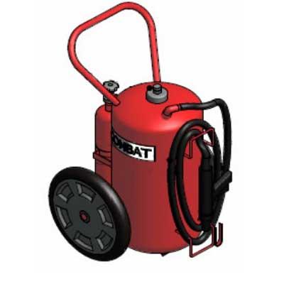 Lingjack Engineering C-75ATC ABC powder cartridge operated trolley fire extinguisher