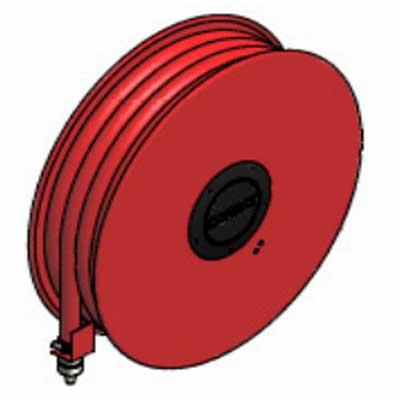 Lingjack Engineering HR-1MF manual fixed slim hose reel