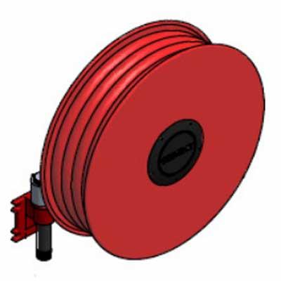 Lingjack Engineering HR-1SSW manual swing slim hose reel
