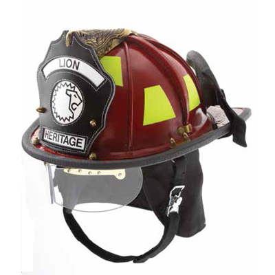 Lion Apparel American Heritage traditional-style leather firefighter helmet