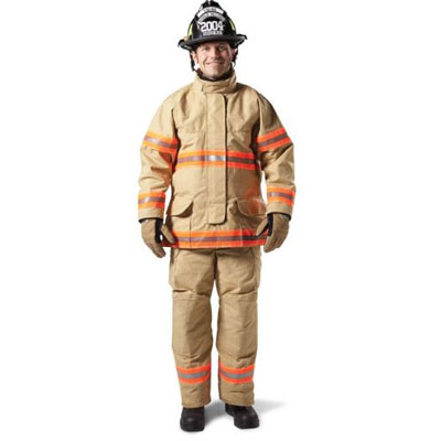 Lion Apparel LHD Group Deutschland Super Coat and Deluxe High-Back Pants with contoured sleeves to reduce fire gear