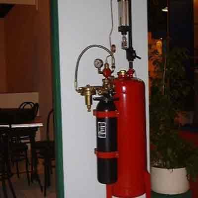 LPG Tecnicas es Extinction 606SC100 powder tank system