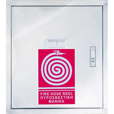 Mobiak KX06-002W6-00B stainless steel fire hose cabinet