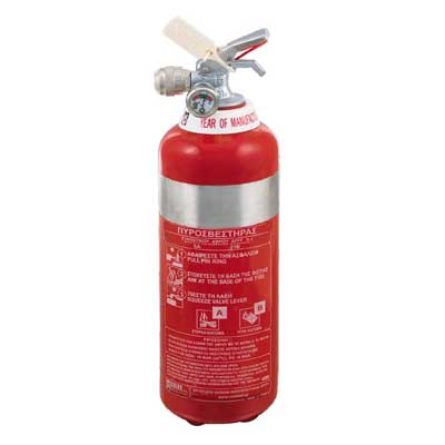 Mobiak MBK04-010AF-P1S 1 liter foam stainless steel fire extinguisher