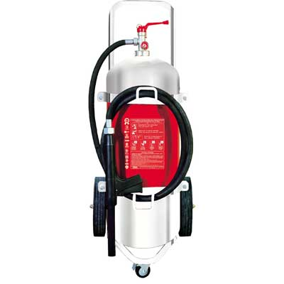 Mobiak MBK10-250AF-W1SS 25 liter stainless steel foam trolley fire extinguisher