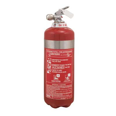 Mobiak MBK11-020FCS-SS 2 liter F class fire extinguisher