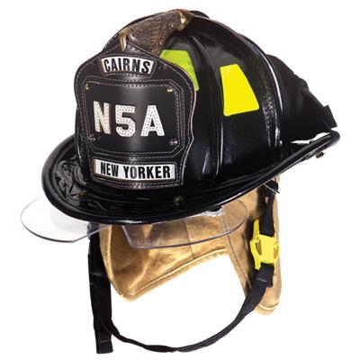 MSA Cairns N5A leather fire helmet