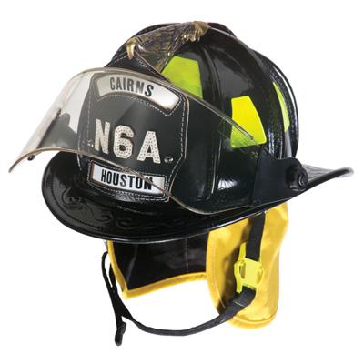 MSA Cairns N6A Houston leather fire helmet