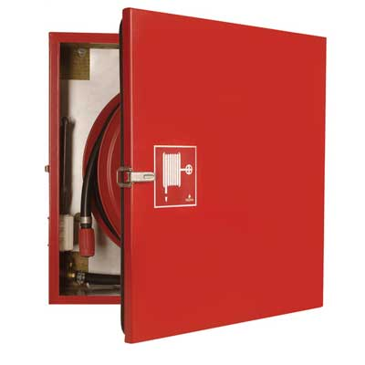 NOHA Model 20 fire hose reel and cabinet with insulation