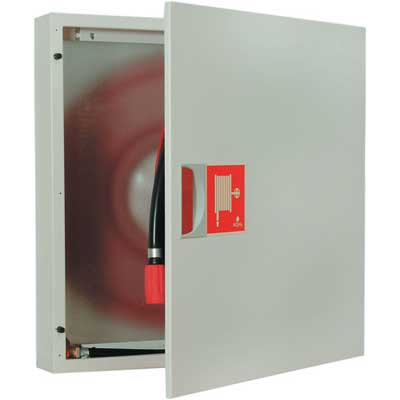 NOHA Model 3 fire hose reel and cabinet for wall mounting