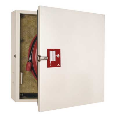 NOHA Model 32 fire hose reel and cabinet with insulation