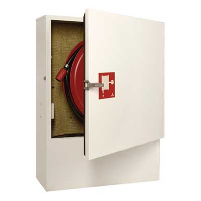 NOHA Model 5Ci free-standing fire hose reel and cabinet with insulation