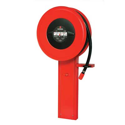 NOHA Model 5D free-standing fire hose reel for floor mounting