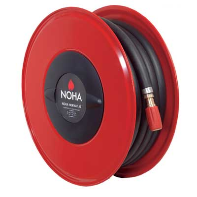 NOHA S11 MED fixed offshore hose reel for wall mounting