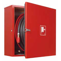 NOHA S21 offshore hose reel in stainless steel cabinet for wall-mounting