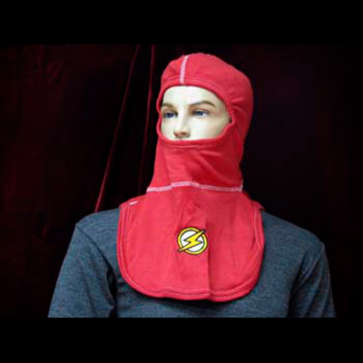 Paul Conway Shields PACII-FLAS red hood with embroidered Flash Person symbol