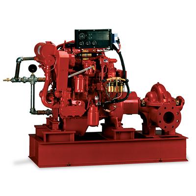 Pentair 491 horizontal split case diesel drive fire pump