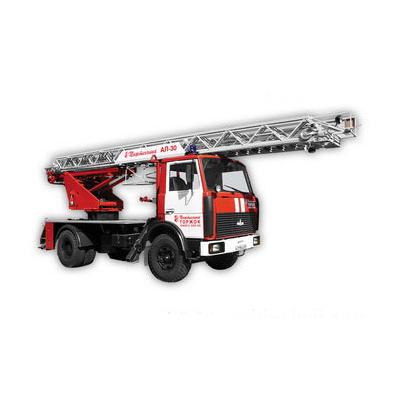 Pozhtechnika AL-30 MAZ-53373 fire ladder