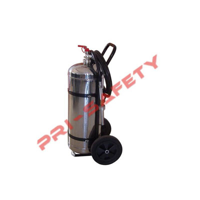 Pri-safety Fire Fighting SSP-100 stainless-steel dry powder wheeled fire extinguisher