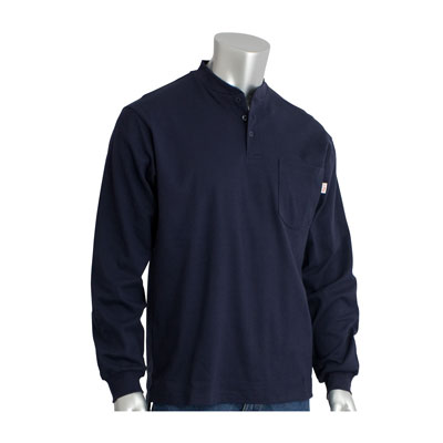 Protective Industrial Products 385-FRHN-NV-M flame-resistant long sleeve shirt