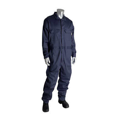 Protective Industrial Products 385-FRSC-NV-5X coverall with zipper closure