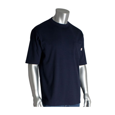 Protective Industrial Products 385-FRSS-NV-M flame-resistant short sleeve t-shirt
