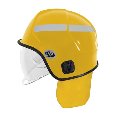 Protective Industrial Products 841-0349 jet-style structural fire helmet