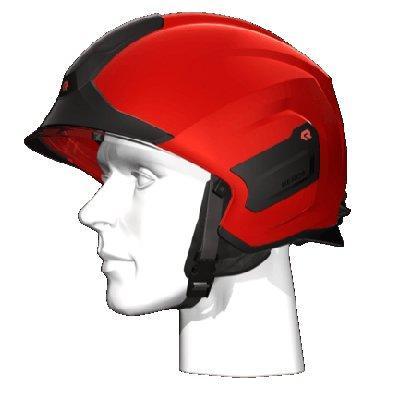 Rosenbauer 157308 Light-weight HEROS-titan Red Firefighting Helmet