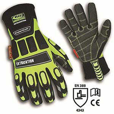 Rock-N-Rescue RHEG-X hybrid Hi Viz extrication gloves