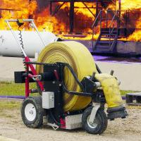 RollNRack Power Roller hose management system