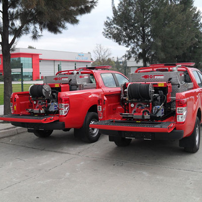 Rotfire D 30 fire fighting system with diesel engines