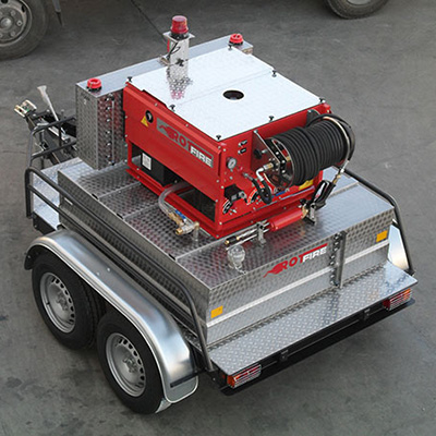 Rotfire RD Series double axle fire fighting system