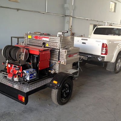 Rotfire RS Series fire fighting single axle system